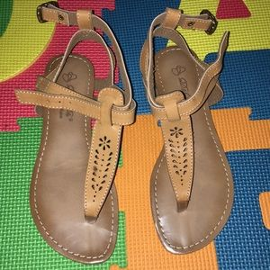 Shoes - Sandals color camel in box